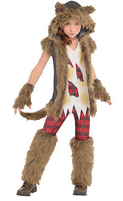 Werewolf costumes for kids adults werewolf halloween costumes girls brown werewolf costume solutioingenieria Image collections