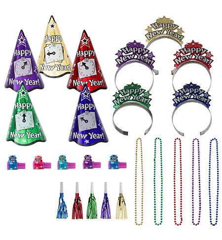 Rainbow Paper Fan Decorations 12ct