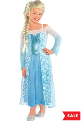 girls elsa costume frozen