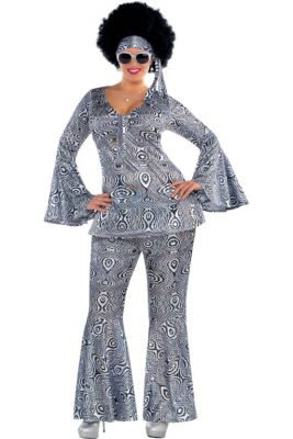 fcef4ef9d18 Adult Dancing Queen Disco Costume Plus Size