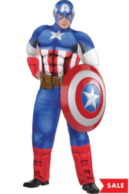 249670968ddb Adult Captain America Muscle Costume Plus Size