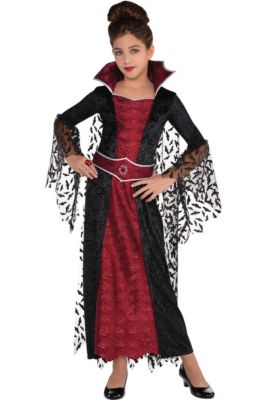 Vampire costumes for kids adults vampire costume ideas party city girls coffin queen vampire costume solutioingenieria Image collections