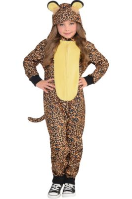 ec73994d49 Girls Zipster Leopard One Piece Costume