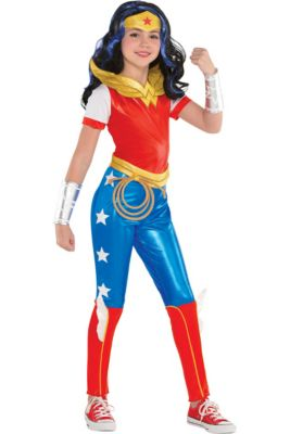929c34a064430 Girls Wonder Woman Jumpsuit Costume - DC Super Hero Girls