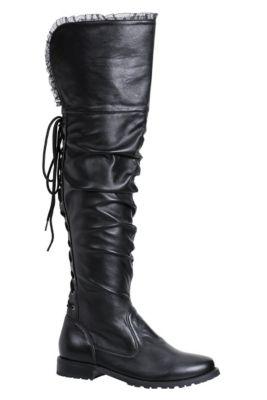1b67c8c20a7 Womens Tyra Black Pirate Boots