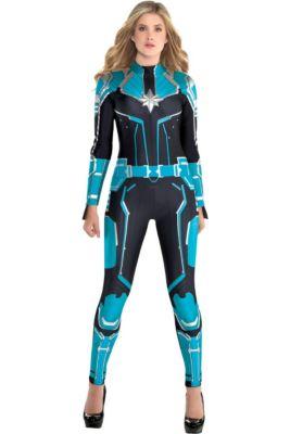 Adult Captain Marvel Starforce Costume - Captain Marvel 19ae43f86