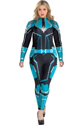 ddefb0d91 Adult Captain Marvel Starforce Costume Plus Size- Captain Marvel