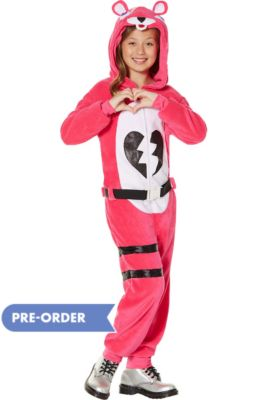 382298081 Child Zipster Cuddle Team Leader One Piece Costume - Fortnite