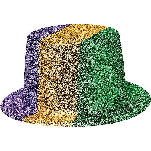4ab3199652fde Glitter Mardi Gras Top Hat