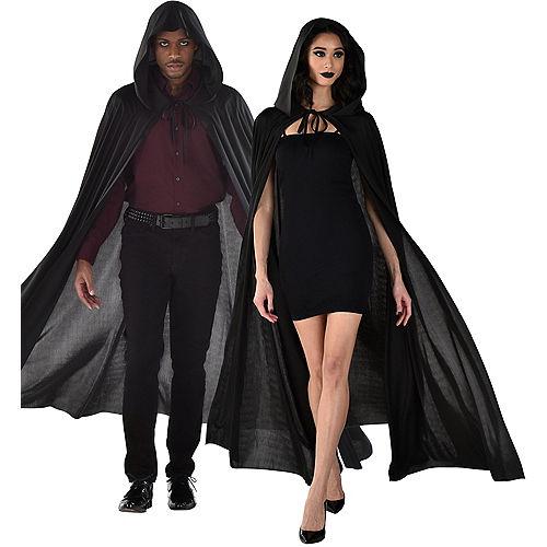adult black hooded cape