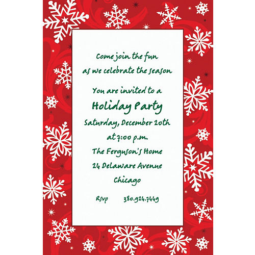 custom christmas invitations thank you notes party city