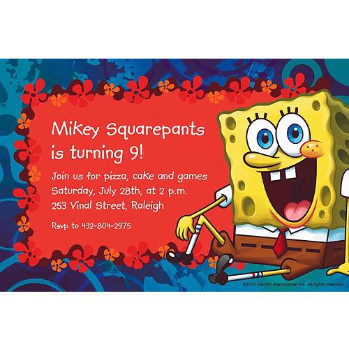 Custom SpongeBob Simply Invitations