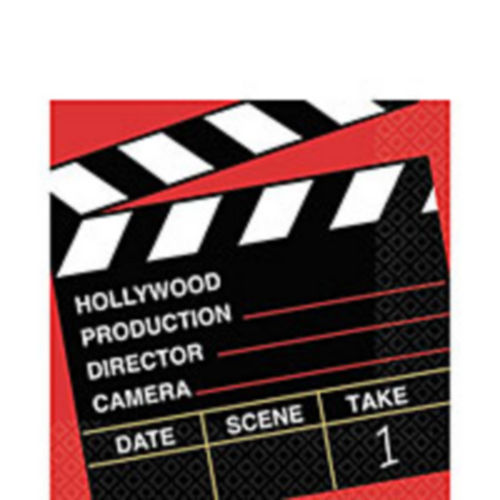clapboard hollywood lunch napkins 36ct