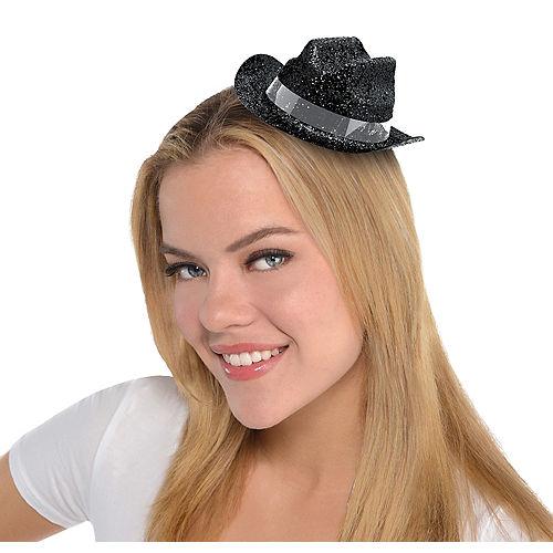 Black Glitter Mini Cowboy Hat 98fdd058d387