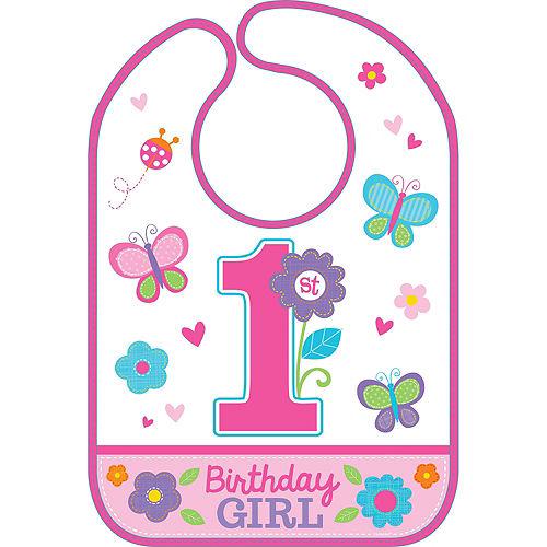 Sweet Girl 1st Birthday Bib