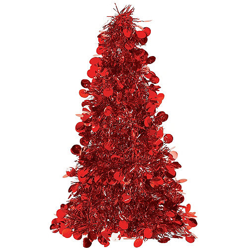 3d red tinsel christmas tree - Disney Princess Outdoor Christmas Decorations