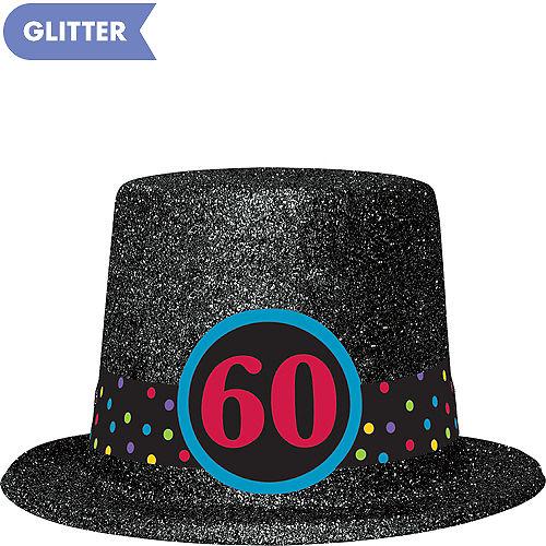 Glitter 60th Birthday Top Hat