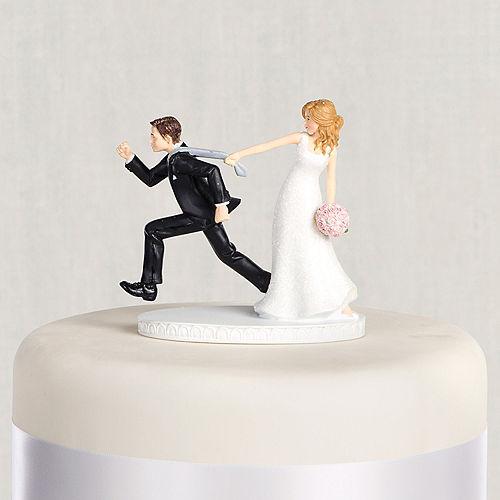 Tie Puller Bride Groom Wedding Cake Topper
