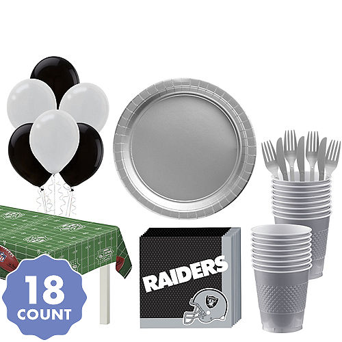 new concept cdb9f c550e NFL Oakland Raiders Party Supplies | Party City