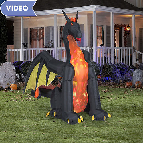 light up inflatable dragon