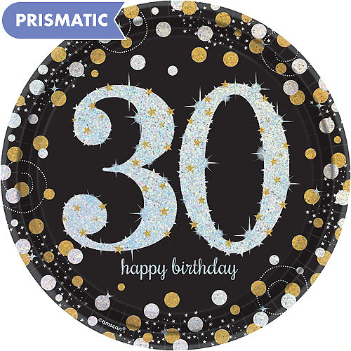 Prismatic 30th Birthday Lunch Plates 8ct