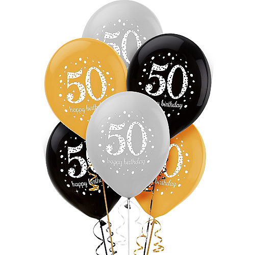 50th Birthday Balloons 6ct