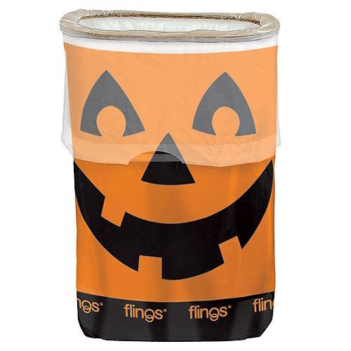 Jack-o'-Lantern Flings® Pop-Up Trash Bin