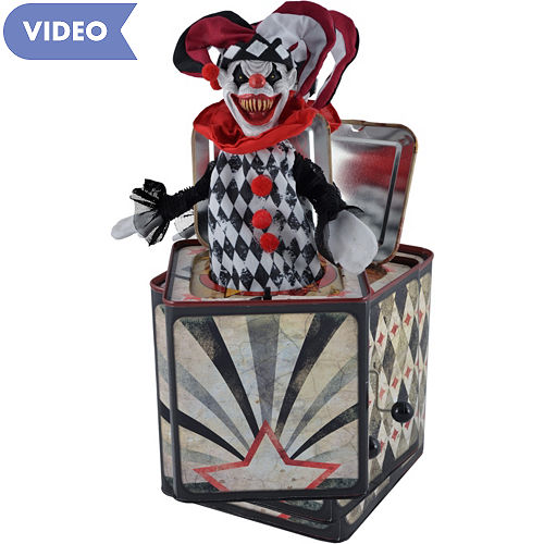 animated creepy jester jack in the box