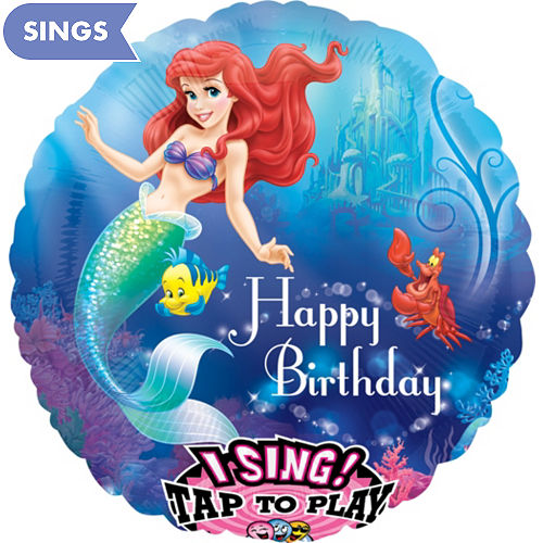 Happy Birthday Little Mermaid Balloon
