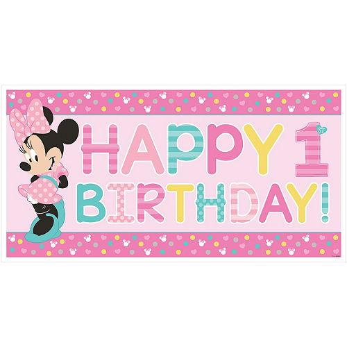 1st Birthday Minnie Mouse Banner