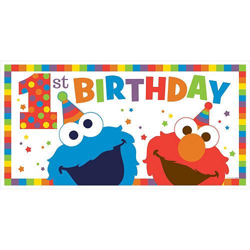 1st Birthday Elmo Banner