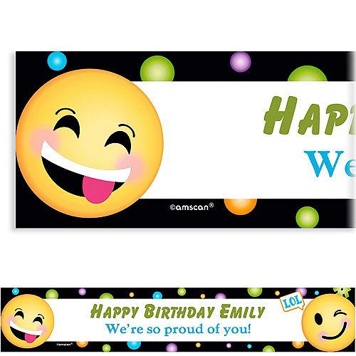 custom smiley banner