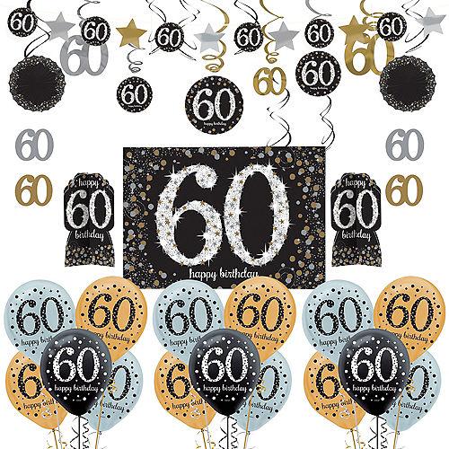 Sparkling Celebration 60th Birthday Decorating Kit With Balloons