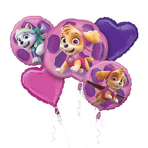 Pink PAW Patrol Balloon Bouquet 5pc