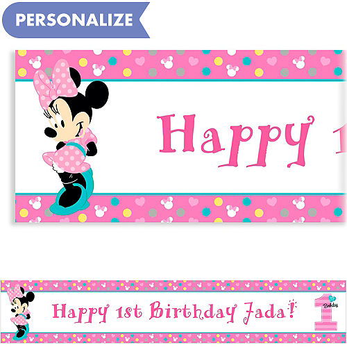 custom 1st birthday banners party city