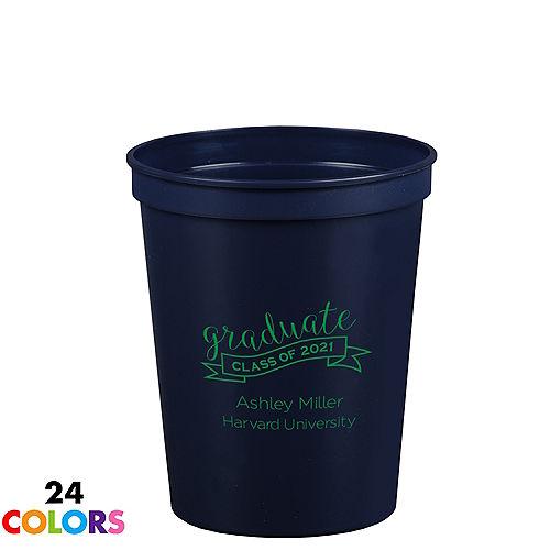 Personalized Graduation Plastic Stadium Cups 16oz