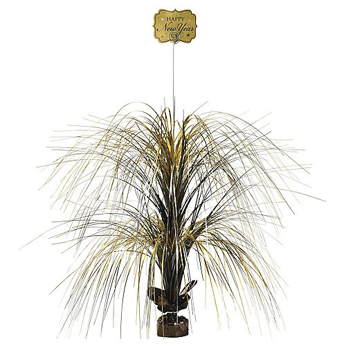 Giant Black Gold Silver New Years Spray Centerpiece