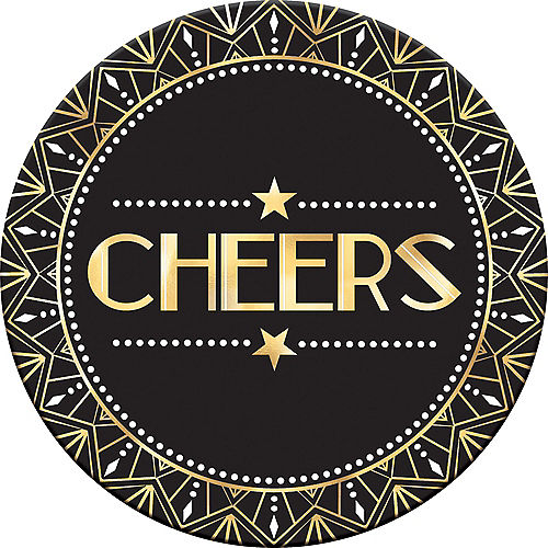 metallic hollywood cheers coasters 18ct