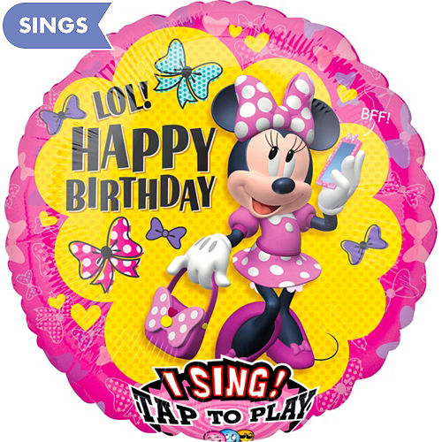 Singing Minnie Mouse Birthday Balloon
