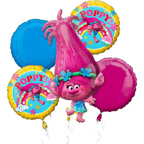 Giant Poppy Balloon Bouquet 5pc