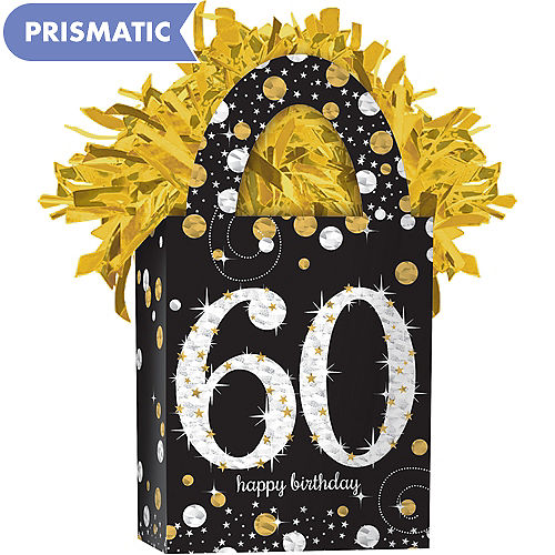 Prismatic 60th Birthday Balloon Weight