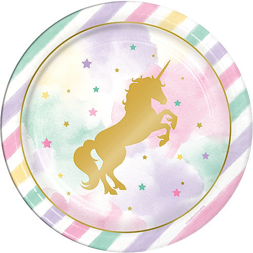 Sparkling Unicorn Lunch Plates 8ct