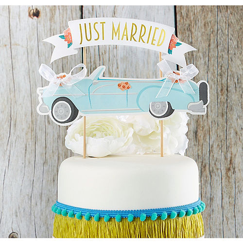 In Store Pickup Just Married Car Cake Topper