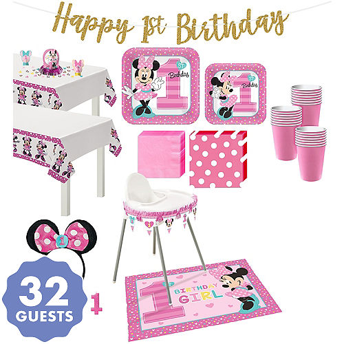Minnie Mouse 1st Birthday Party Supplies | Party City Canada