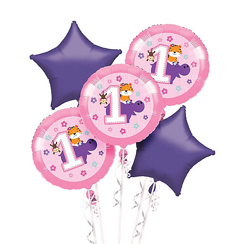 Pink One Is Fun Balloon Bouquet