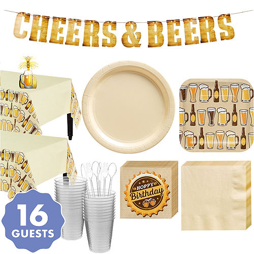 Cheers Beers Basic Party Kit For 16 Guests