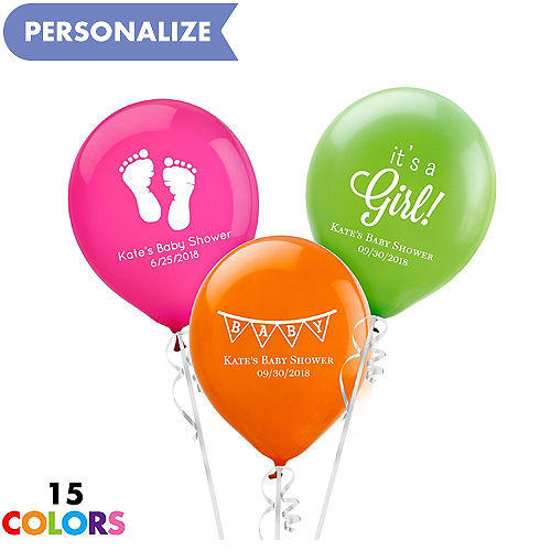 Personalized Baby Shower Latex Small Balloon