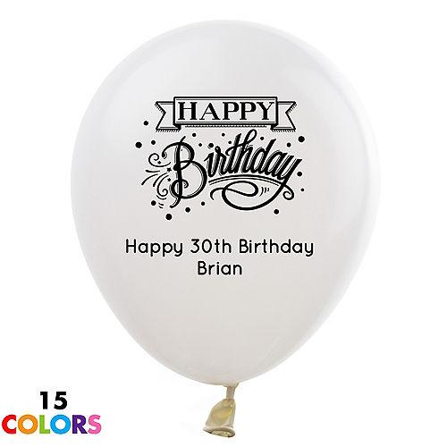 Personalized Milestone Birthday Latex Balloon