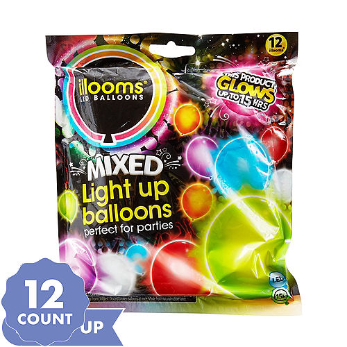 Illooms Light Up Led Balloons Glow In The Dark Balloons Party City
