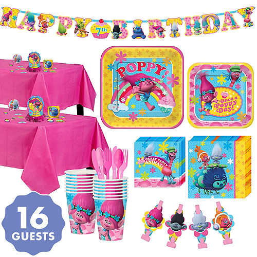 Trolls Tableware Party Kit For 16 Guests